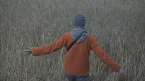 joanna in field